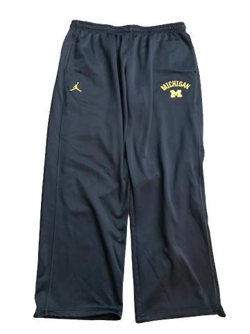 Tyrone Wheatley Jr. Michigan Team Issued Jordan Sweatpants (Size XXXL)