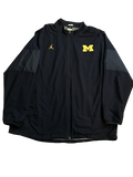Tyrone Wheatley Jr. Michigan Team Issued Jordan Full-Zip Jacket (Size XXL)