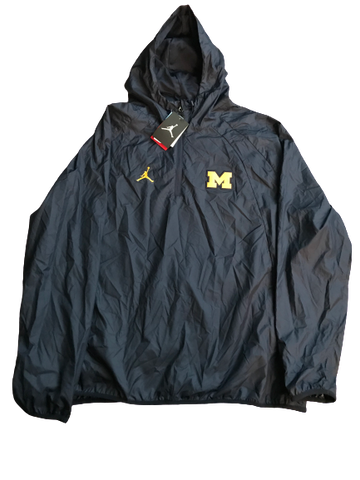 Tyrone Wheatley Jr. Michigan New Team Issued Jordan Windbreaker Coat (Size XXL)