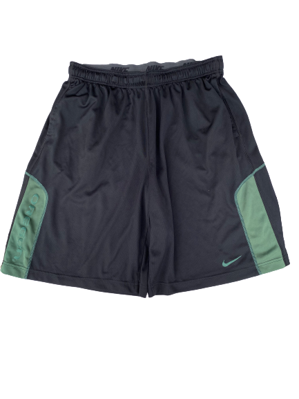 E.J. Singler Oregon Team Issued Workout Shorts (Size XXL)