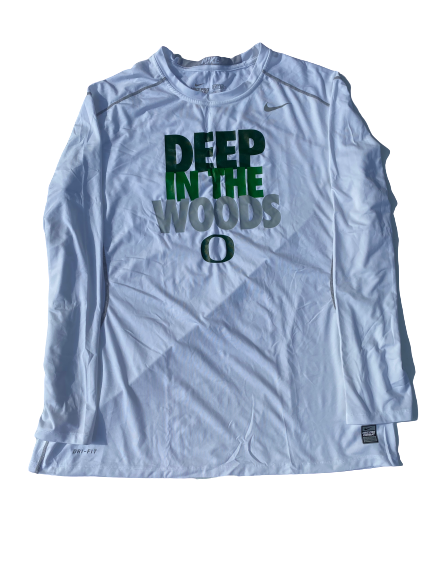 "E.J. Singler Oregon Player Exclusive ""Deep In The Woods"" Game Shooting Shirt (Size XXL Fitted)"