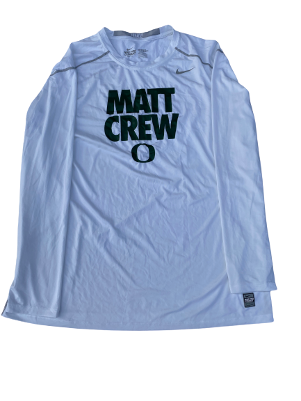 "E.J. Singler Oregon Player Exclusive ""Matt Crew"" Game Shooting Shirt (Size XXL Compression)"