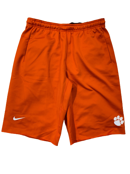 Patrick McClure Clemson Football Team Issued Sweat Shorts (Size L)