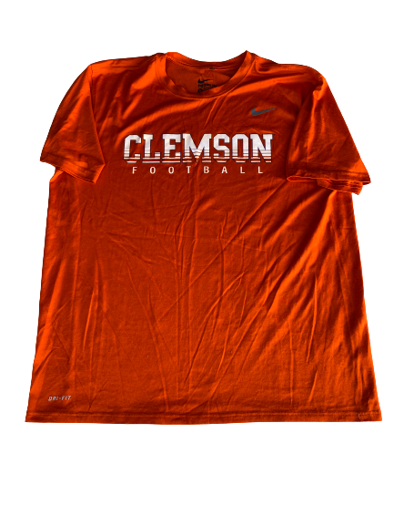 Patrick McClure Clemson Football Team Issued Workout Shirt (Size XL)