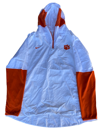 Patrick McClure Clemson Football Team Issued Quarter-Zip Fleece Jacket (Size XL)