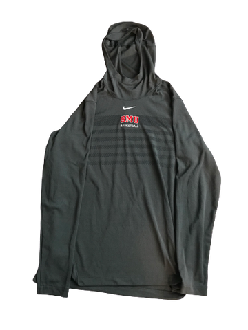 Nat Dixon SMU Team Issued Long Sleeve Hooded Warm-Up (Size L)