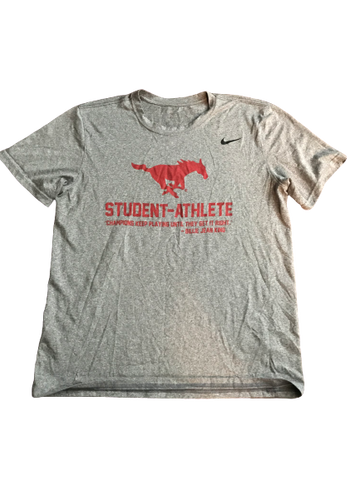 "Nat Dixon SMU Team Issued ""Student-Athlete"" T-Shirt (Size L)"