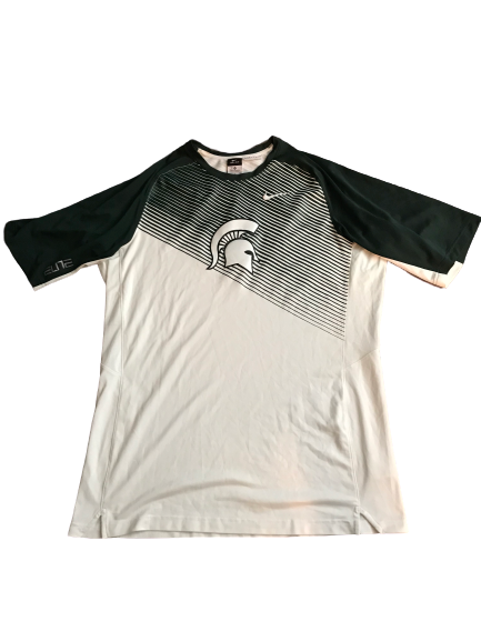 Javon Bess Michigan State Team Exclusive Game Shooting Shirt (Size XL)
