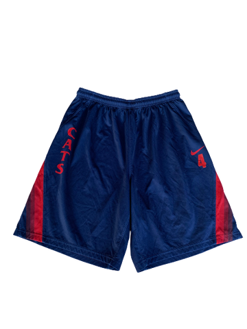 Chase Jeter Arizona Basketball Practice Shorts With Number (Size XL)