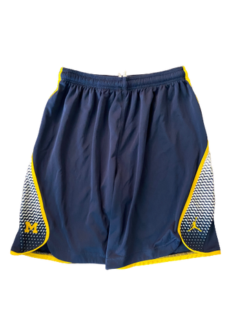 Derrick Walton Jr. Michigan Basketball 2016-2017 BIG 10 Tournament Game Worn Shorts