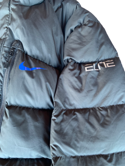 Chase Jeter Duke Nike Elite Player Exclusive Winter Jacket (Size XL)