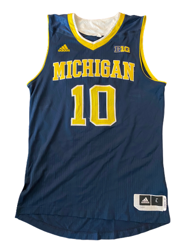 Derrick Walton Jr. Michigan Basketball 2015-2016 Game Worn Jersey