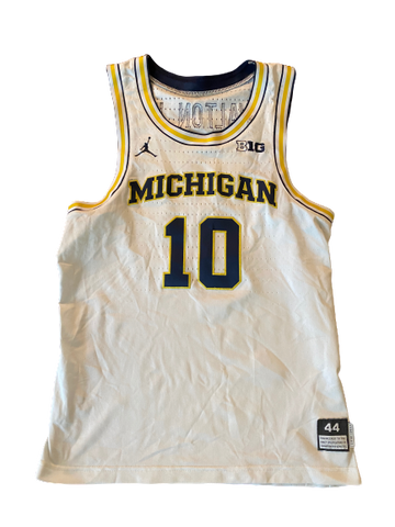 Derrick Walton Jr. Michigan Basketball Signed 2016-2017 Game Worn Jersey