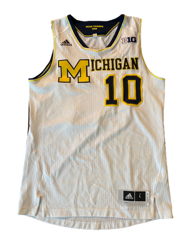 Derrick Walton Jr. Michigan Basketball 1/10/2015 Signed Game Worn Jersey