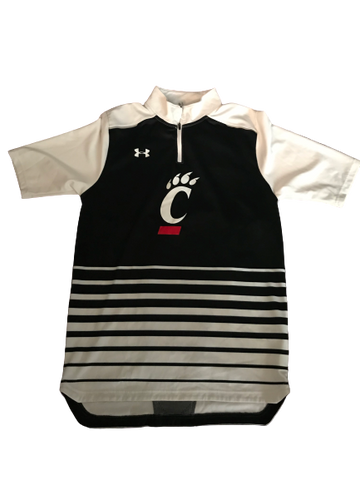 Cincinnati Basketball Team Issued Quarter-Zip Short Sleeve Warm-Up (Size M)