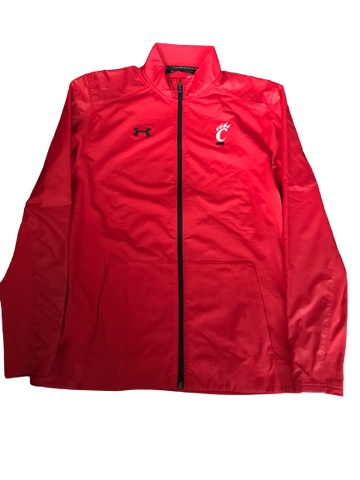Cincinnati Basketball Team Issued Full-Zip Jacket (Size M)