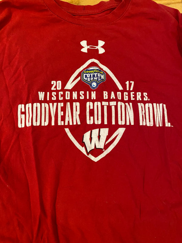Reggie Love Wisconsin Football 2017 Goodyear Cotton Bowl Long Sleeve Shirt (Size XL)
