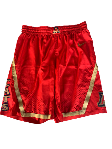 Chase Jeter Arizona Basketball 2018-2019 Season Game-Worn Shorts (Size 38)