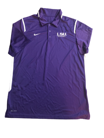 LSU Basketball Team Issued Polo Shirt (Size M)