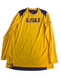 LSU Basketball Team Issued Long Sleeve Shooting Shirt Warm-Up (Size L)