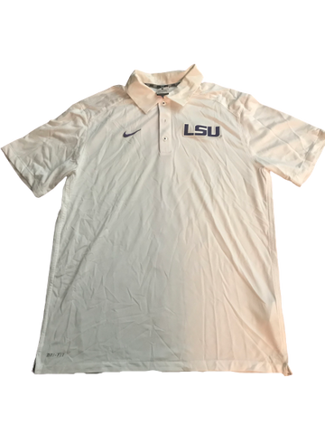 LSU Basketball Team Issued Polo Shirt (Size L)