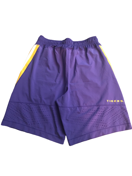 LSU Basketball Team Issued Practice Shorts with #0 (Size L)