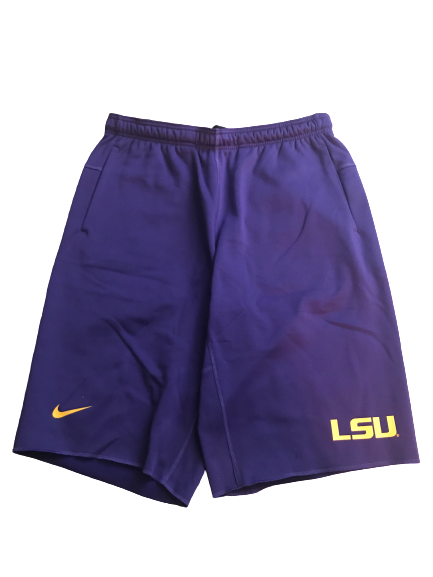 LSU Basketball Team Issued Sweat Shorts (Size L)