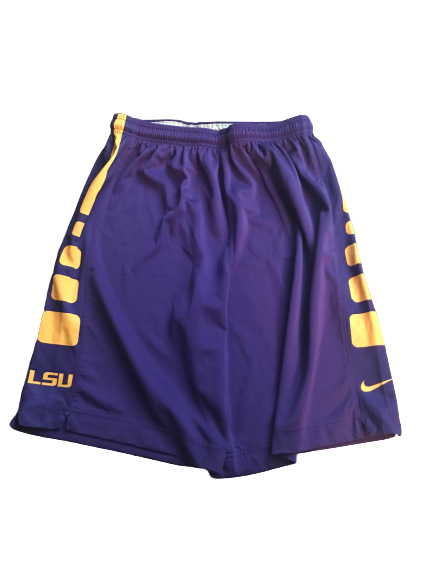 LSU Basketball Team Issued Practice Shorts (Size XL)
