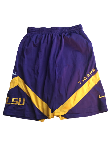 LSU Basketball Team Issued Practice Shorts (Size L)