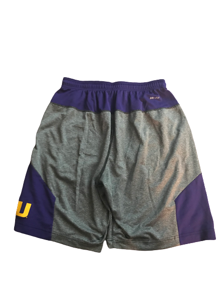 LSU Basketball Team Issued Workout Shorts (Size L)