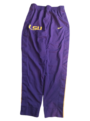 LSU Basketball Team Exclusive Tear-A-Way Warm-Up Pants (Size M)