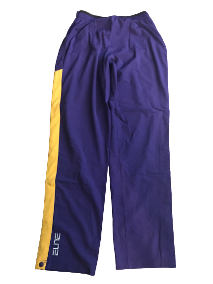 LSU Basketball Team Exclusive Tear-A-Way Warm-Up Pants (Size L)
