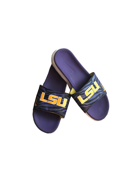 LSU Basketball Team Issued Slides (Size 14)