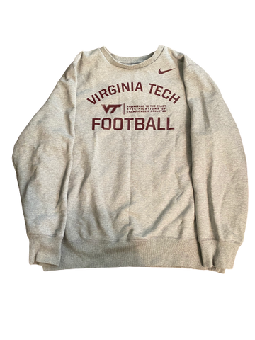 Luther Maddy Virginia Tech Team Issued Crewneck Sweatshirt (Size XXL)