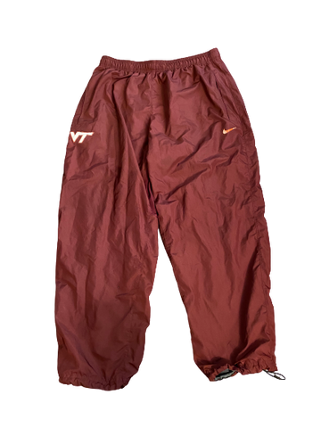 Luther Maddy Virginia Tech Team Issued Windbreaker Sweatpants (Size XXXL)