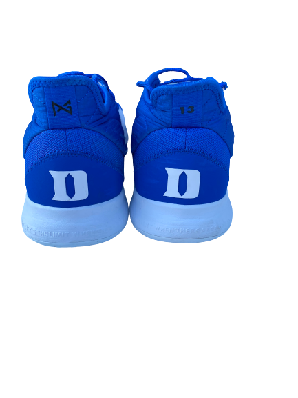 Javin DeLaurier Duke Basketball 2019 Season Game-Worn Nike PG3 Player Exclusive Sneakers (Size 17)(11/29/2019)