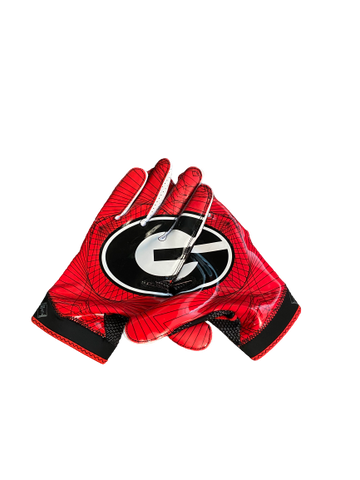Steven Van Tiflin Georgia Team Exclusive Football Gloves (Size XXL)