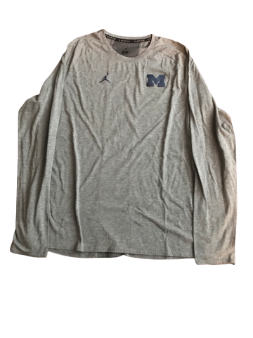 Shea Patterson Michigan Team Issued Jordan Long Sleeve Shirt (Size L)