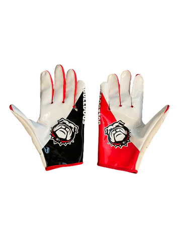 Steven Van Tiflin Georgia Team Exclusive Football Gloves (Size XL)