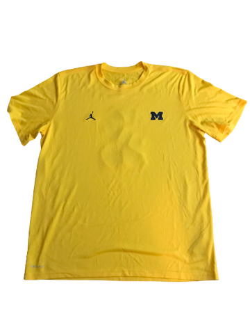 Shea Patterson Michigan Team Issued Jordan Practice Shirt (with Name & Number on back)