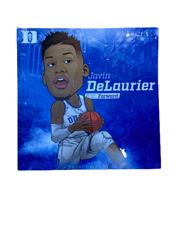 Javin DeLaurier Duke Basketball Locker Room Plate (12 inches x 12 inches)