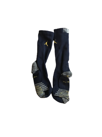 Shea Patterson Michigan Team Issued Jordan Socks (Size L & XL)