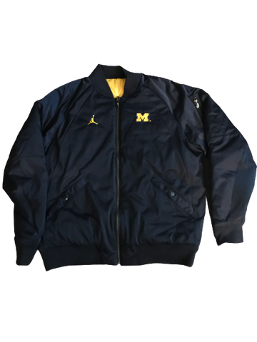 Shea Patterson Michigan Team Issued Jordan Reversible Jacket