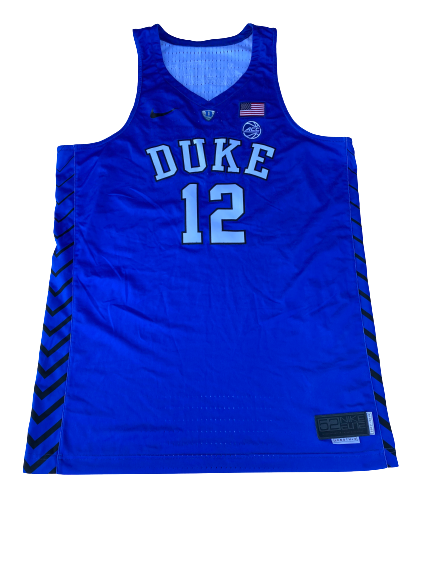 Javin DeLaurier Duke Basketball 2017-2018 Season Game-Worn Jersey (Size 52 +4 Length)(11/26/2017)