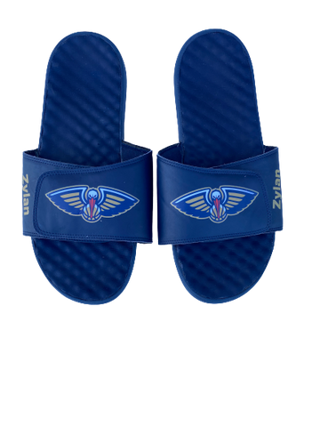 Zylan Cheatham New Orleans Pelicans Slides with Name (Size 14/15)