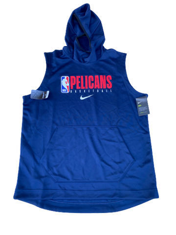 Zylan Cheatham New Orleans Pelicans Short Sleeve Hoodie (Size XLT)