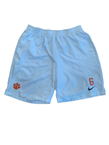 Dorian O'Daniel Clemson Football Team Exclusive Workout Shorts with Number (Size XL)