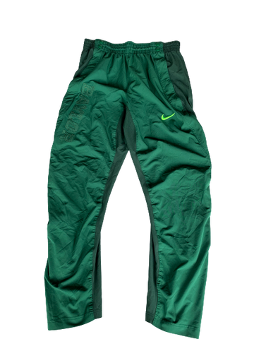 Makai Mason Baylor Basketball Pregame Snap Button Pants (Size L)