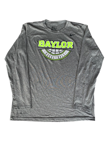 Makai Mason Baylor Basketball Player Exclusive Nike Long Sleeve Shirt (Size L)
