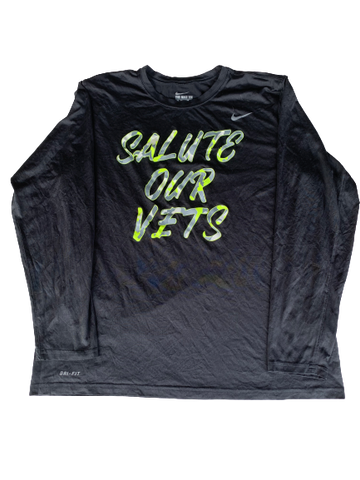 "Makai Mason Baylor Basketball ""Salute Our Vets"" Nike Pregame Shooting Shirt (Size XL)"